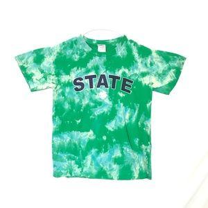 Custom Tie Dye PSU State tiedye T-shirt